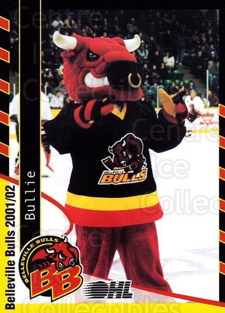 2001-02 Belleville Bulls #29 Mascot<br/>3 In Stock - $3.00 each - <a href=https://centericecollectibles.foxycart.com/cart?name=2001-02%20Belleville%20Bulls%20%2329%20Mascot...&quantity_max=3&price=$3.00&code=92567 class=foxycart> Buy it now! </a>