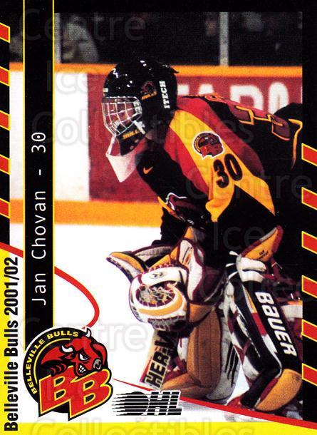 2001-02 Belleville Bulls #5 Jan Chovan<br/>1 In Stock - $3.00 each - <a href=https://centericecollectibles.foxycart.com/cart?name=2001-02%20Belleville%20Bulls%20%235%20Jan%20Chovan...&price=$3.00&code=92570 class=foxycart> Buy it now! </a>