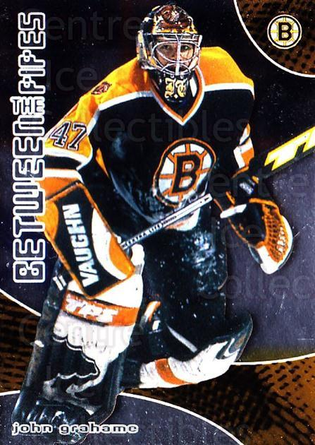 2001-02 Between the Pipes #11 John Grahame<br/>5 In Stock - $1.00 each - <a href=https://centericecollectibles.foxycart.com/cart?name=2001-02%20Between%20the%20Pipes%20%2311%20John%20Grahame...&quantity_max=5&price=$1.00&code=92603 class=foxycart> Buy it now! </a>