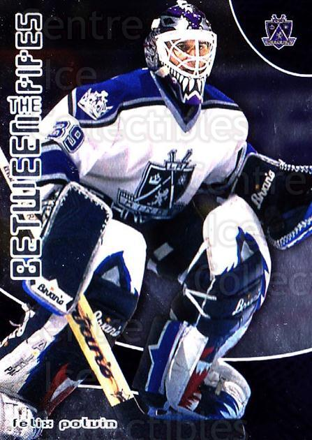 2001-02 Between the Pipes #35 Felix Potvin<br/>7 In Stock - $1.00 each - <a href=https://centericecollectibles.foxycart.com/cart?name=2001-02%20Between%20the%20Pipes%20%2335%20Felix%20Potvin...&quantity_max=7&price=$1.00&code=92675 class=foxycart> Buy it now! </a>
