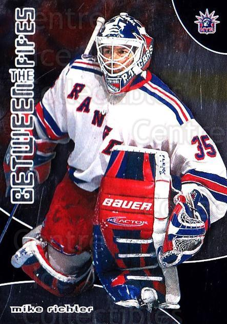 2001-02 Between the Pipes #50 Mike Richter<br/>7 In Stock - $1.00 each - <a href=https://centericecollectibles.foxycart.com/cart?name=2001-02%20Between%20the%20Pipes%20%2350%20Mike%20Richter...&quantity_max=7&price=$1.00&code=92688 class=foxycart> Buy it now! </a>