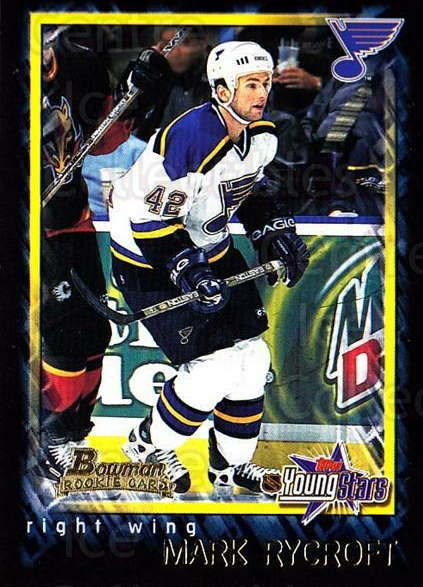 2001-02 Bowman YoungStars #119 Mark Rycroft<br/>6 In Stock - $1.00 each - <a href=https://centericecollectibles.foxycart.com/cart?name=2001-02%20Bowman%20YoungStars%20%23119%20Mark%20Rycroft...&quantity_max=6&price=$1.00&code=92893 class=foxycart> Buy it now! </a>