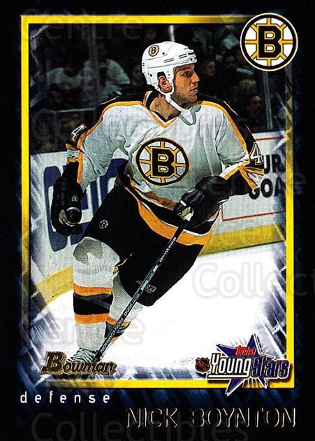 2001-02 Bowman YoungStars #127 Nick Boynton<br/>2 In Stock - $1.00 each - <a href=https://centericecollectibles.foxycart.com/cart?name=2001-02%20Bowman%20YoungStars%20%23127%20Nick%20Boynton...&quantity_max=2&price=$1.00&code=92902 class=foxycart> Buy it now! </a>