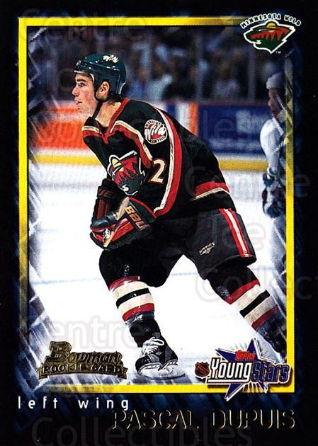 2001-02 Bowman YoungStars #132 Pascal Dupuis<br/>3 In Stock - $1.00 each - <a href=https://centericecollectibles.foxycart.com/cart?name=2001-02%20Bowman%20YoungStars%20%23132%20Pascal%20Dupuis...&quantity_max=3&price=$1.00&code=92908 class=foxycart> Buy it now! </a>