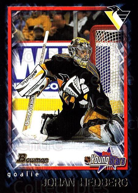 2001-02 Bowman YoungStars #79 Johan Hedberg<br/>3 In Stock - $1.00 each - <a href=https://centericecollectibles.foxycart.com/cart?name=2001-02%20Bowman%20YoungStars%20%2379%20Johan%20Hedberg...&quantity_max=3&price=$1.00&code=93008 class=foxycart> Buy it now! </a>