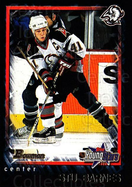 2001-02 Bowman YoungStars #84 Stu Barnes<br/>9 In Stock - $1.00 each - <a href=https://centericecollectibles.foxycart.com/cart?name=2001-02%20Bowman%20YoungStars%20%2384%20Stu%20Barnes...&quantity_max=9&price=$1.00&code=93014 class=foxycart> Buy it now! </a>