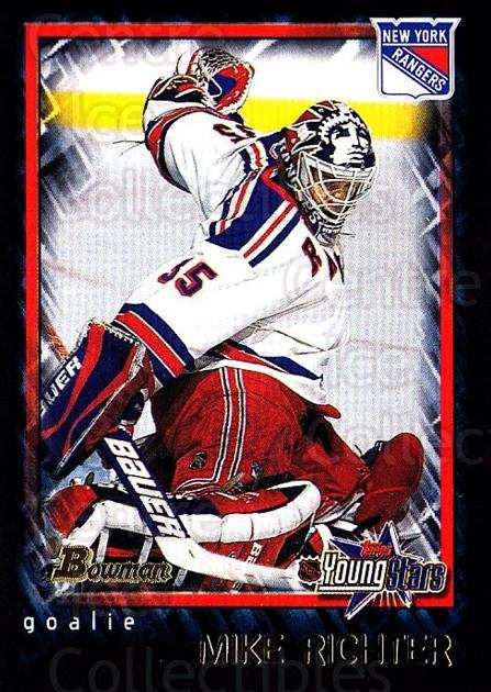 2001-02 Bowman YoungStars #9 Mike Richter<br/>3 In Stock - $1.00 each - <a href=https://centericecollectibles.foxycart.com/cart?name=2001-02%20Bowman%20YoungStars%20%239%20Mike%20Richter...&quantity_max=3&price=$1.00&code=93020 class=foxycart> Buy it now! </a>