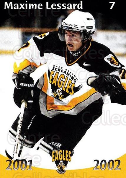 2001-02 Cape Breton Screaming Eagles #2 Maxime Lessard<br/>6 In Stock - $3.00 each - <a href=https://centericecollectibles.foxycart.com/cart?name=2001-02%20Cape%20Breton%20Screaming%20Eagles%20%232%20Maxime%20Lessard...&price=$3.00&code=93033 class=foxycart> Buy it now! </a>
