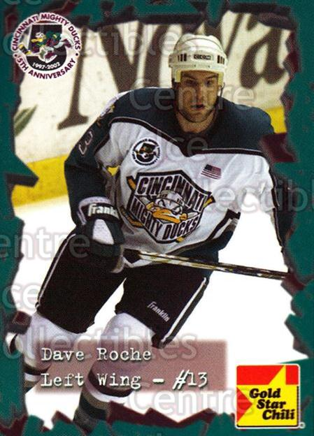 2001-02 Cincinnati Mighty Ducks #16 David Roche<br/>3 In Stock - $3.00 each - <a href=https://centericecollectibles.foxycart.com/cart?name=2001-02%20Cincinnati%20Mighty%20Ducks%20%2316%20David%20Roche...&quantity_max=3&price=$3.00&code=93080 class=foxycart> Buy it now! </a>