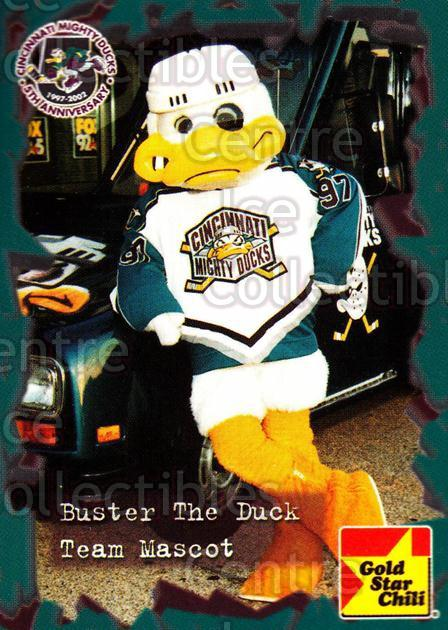 2001-02 Cincinnati Mighty Ducks #22 Mascot<br/>2 In Stock - $3.00 each - <a href=https://centericecollectibles.foxycart.com/cart?name=2001-02%20Cincinnati%20Mighty%20Ducks%20%2322%20Mascot...&quantity_max=2&price=$3.00&code=93086 class=foxycart> Buy it now! </a>