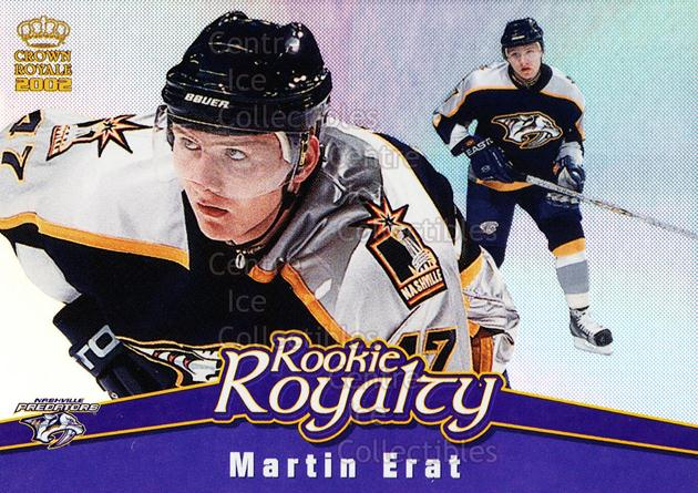 2001-02 Crown Royale Rookie Royalty #12 Martin Erat<br/>3 In Stock - $2.00 each - <a href=https://centericecollectibles.foxycart.com/cart?name=2001-02%20Crown%20Royale%20Rookie%20Royalty%20%2312%20Martin%20Erat...&quantity_max=3&price=$2.00&code=93242 class=foxycart> Buy it now! </a>