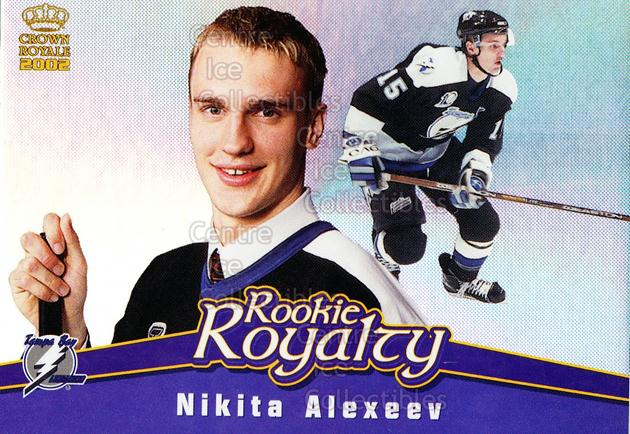 2001-02 Crown Royale Rookie Royalty #20 Nikita Alexeev<br/>7 In Stock - $2.00 each - <a href=https://centericecollectibles.foxycart.com/cart?name=2001-02%20Crown%20Royale%20Rookie%20Royalty%20%2320%20Nikita%20Alexeev...&quantity_max=7&price=$2.00&code=93247 class=foxycart> Buy it now! </a>