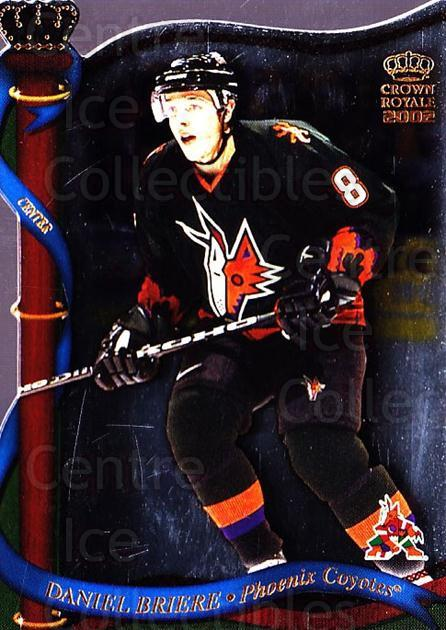 2001-02 Crown Royale #110 Daniel Briere<br/>6 In Stock - $1.00 each - <a href=https://centericecollectibles.foxycart.com/cart?name=2001-02%20Crown%20Royale%20%23110%20Daniel%20Briere...&quantity_max=6&price=$1.00&code=93263 class=foxycart> Buy it now! </a>