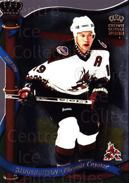 2001-02 Crown Royale #112 Shane Doan<br/>5 In Stock - $1.00 each - <a href=https://centericecollectibles.foxycart.com/cart?name=2001-02%20Crown%20Royale%20%23112%20Shane%20Doan...&quantity_max=5&price=$1.00&code=93265 class=foxycart> Buy it now! </a>