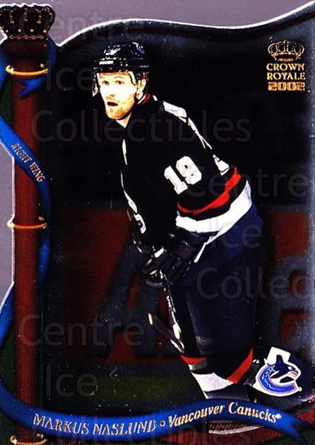 2001-02 Crown Royale #138 Markus Naslund<br/>6 In Stock - $1.00 each - <a href=https://centericecollectibles.foxycart.com/cart?name=2001-02%20Crown%20Royale%20%23138%20Markus%20Naslund...&quantity_max=6&price=$1.00&code=93282 class=foxycart> Buy it now! </a>