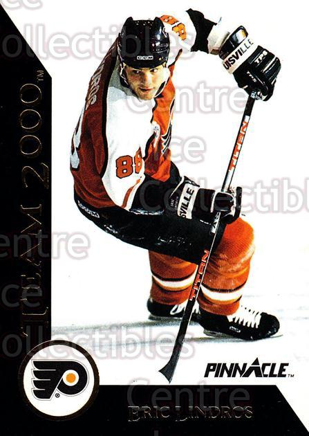 1992-93 Pinnacle Team 2000 #1 Eric Lindros<br/>4 In Stock - $2.00 each - <a href=https://centericecollectibles.foxycart.com/cart?name=1992-93%20Pinnacle%20Team%202000%20%231%20Eric%20Lindros...&quantity_max=4&price=$2.00&code=9329 class=foxycart> Buy it now! </a>