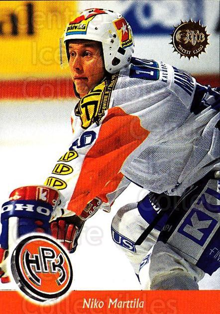 1994-95 Finnish SISU #12 Niko Marttila<br/>4 In Stock - $2.00 each - <a href=https://centericecollectibles.foxycart.com/cart?name=1994-95%20Finnish%20SISU%20%2312%20Niko%20Marttila...&quantity_max=4&price=$2.00&code=932 class=foxycart> Buy it now! </a>