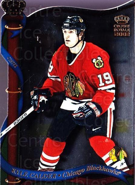 2001-02 Crown Royale #31 Kyle Calder<br/>4 In Stock - $1.00 each - <a href=https://centericecollectibles.foxycart.com/cart?name=2001-02%20Crown%20Royale%20%2331%20Kyle%20Calder...&quantity_max=4&price=$1.00&code=93304 class=foxycart> Buy it now! </a>