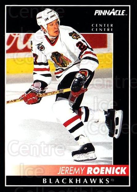 1992-93 Pinnacle Canadian #10 Jeremy Roenick<br/>5 In Stock - $1.00 each - <a href=https://centericecollectibles.foxycart.com/cart?name=1992-93%20Pinnacle%20Canadian%20%2310%20Jeremy%20Roenick...&quantity_max=5&price=$1.00&code=9331 class=foxycart> Buy it now! </a>