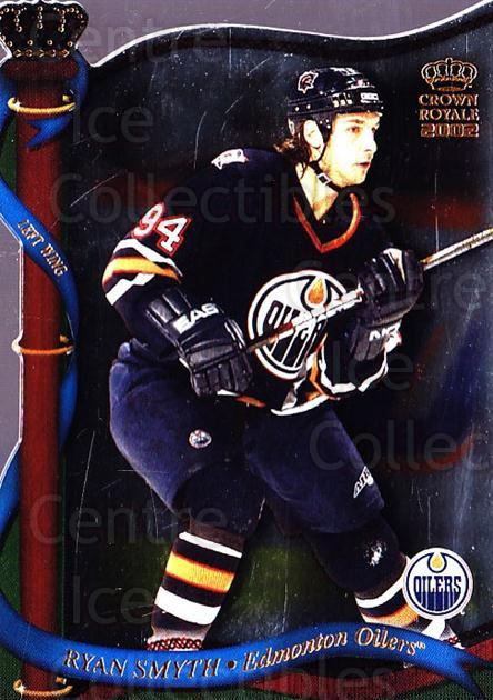 2001-02 Crown Royale #62 Ryan Smyth<br/>4 In Stock - $1.00 each - <a href=https://centericecollectibles.foxycart.com/cart?name=2001-02%20Crown%20Royale%20%2362%20Ryan%20Smyth...&quantity_max=4&price=$1.00&code=93325 class=foxycart> Buy it now! </a>