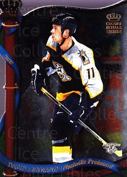 2001-02 Crown Royale #81 David Legwand<br/>6 In Stock - $1.00 each - <a href=https://centericecollectibles.foxycart.com/cart?name=2001-02%20Crown%20Royale%20%2381%20David%20Legwand...&quantity_max=6&price=$1.00&code=93343 class=foxycart> Buy it now! </a>