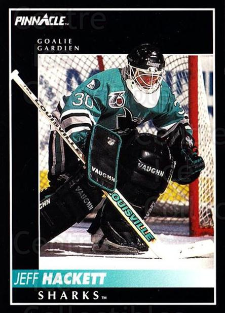 1992-93 Pinnacle Canadian #105 Jeff Hackett<br/>5 In Stock - $1.00 each - <a href=https://centericecollectibles.foxycart.com/cart?name=1992-93%20Pinnacle%20Canadian%20%23105%20Jeff%20Hackett...&quantity_max=5&price=$1.00&code=9337 class=foxycart> Buy it now! </a>