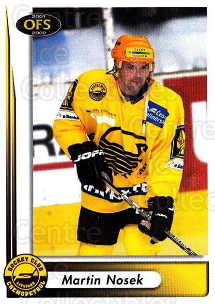 2001-02 Czech OFS #151 Martin Nosek<br/>6 In Stock - $2.00 each - <a href=https://centericecollectibles.foxycart.com/cart?name=2001-02%20Czech%20OFS%20%23151%20Martin%20Nosek...&quantity_max=6&price=$2.00&code=93521 class=foxycart> Buy it now! </a>