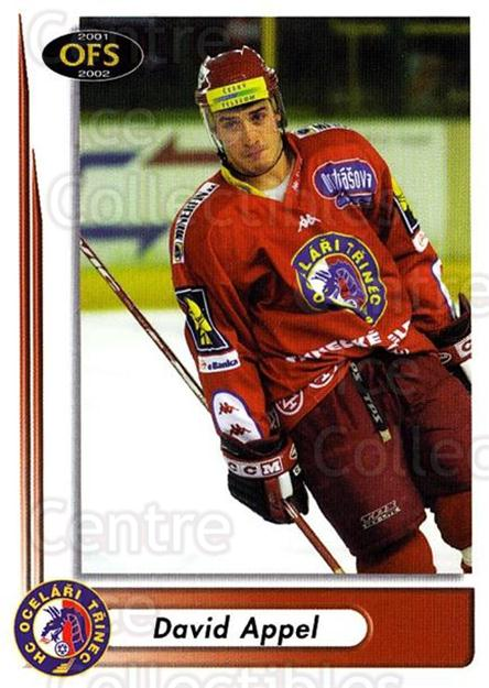 2001-02 Czech OFS #186 David Appel<br/>4 In Stock - $2.00 each - <a href=https://centericecollectibles.foxycart.com/cart?name=2001-02%20Czech%20OFS%20%23186%20David%20Appel...&quantity_max=4&price=$2.00&code=93554 class=foxycart> Buy it now! </a>