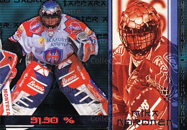 2001-02 Finnish Cardset Haltmeisters #5 Mika Noronen<br/>1 In Stock - $3.00 each - <a href=https://centericecollectibles.foxycart.com/cart?name=2001-02%20Finnish%20Cardset%20Haltmeisters%20%235%20Mika%20Noronen...&quantity_max=1&price=$3.00&code=93652 class=foxycart> Buy it now! </a>
