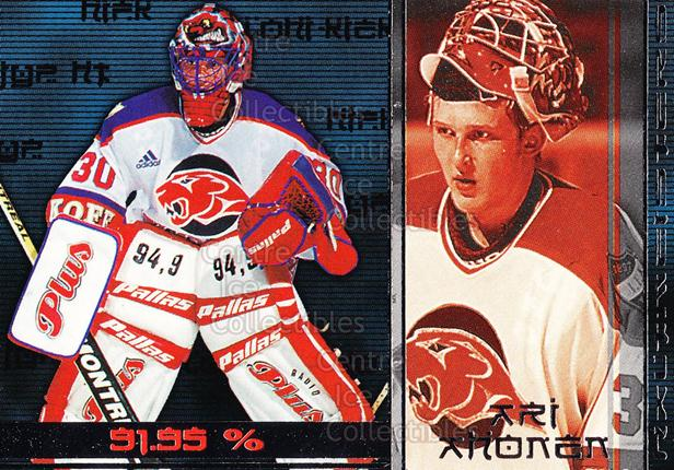 2001-02 Finnish Cardset Haltmeisters #8 Ari Ahonen<br/>2 In Stock - $3.00 each - <a href=https://centericecollectibles.foxycart.com/cart?name=2001-02%20Finnish%20Cardset%20Haltmeisters%20%238%20Ari%20Ahonen...&quantity_max=2&price=$3.00&code=93653 class=foxycart> Buy it now! </a>