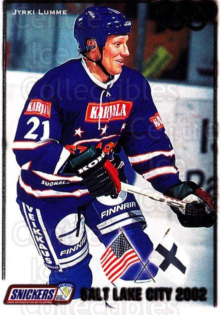 2001-02 Finnish Cardset Salt Lake City #6 Jyrki Lumme<br/>3 In Stock - $3.00 each - <a href=https://centericecollectibles.foxycart.com/cart?name=2001-02%20Finnish%20Cardset%20Salt%20Lake%20City%20%236%20Jyrki%20Lumme...&quantity_max=3&price=$3.00&code=93659 class=foxycart> Buy it now! </a>