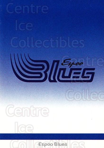 2001-02 Finnish Cardset #1 Espoo Blues<br/>7 In Stock - $2.00 each - <a href=https://centericecollectibles.foxycart.com/cart?name=2001-02%20Finnish%20Cardset%20%231%20Espoo%20Blues...&quantity_max=7&price=$2.00&code=93662 class=foxycart> Buy it now! </a>