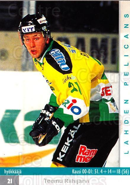 2001-02 Finnish Cardset #102 Teemu Riihijarvi<br/>8 In Stock - $2.00 each - <a href=https://centericecollectibles.foxycart.com/cart?name=2001-02%20Finnish%20Cardset%20%23102%20Teemu%20Riihijarv...&quantity_max=8&price=$2.00&code=93666 class=foxycart> Buy it now! </a>
