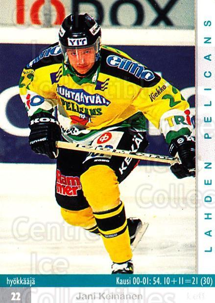 2001-02 Finnish Cardset #103 Jani Keinanen<br/>8 In Stock - $2.00 each - <a href=https://centericecollectibles.foxycart.com/cart?name=2001-02%20Finnish%20Cardset%20%23103%20Jani%20Keinanen...&quantity_max=8&price=$2.00&code=93667 class=foxycart> Buy it now! </a>