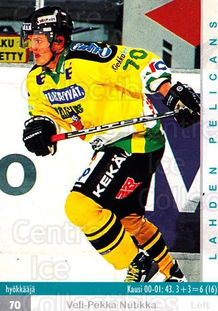 2001-02 Finnish Cardset #106 Veli-Pekka Nutikka<br/>8 In Stock - $2.00 each - <a href=https://centericecollectibles.foxycart.com/cart?name=2001-02%20Finnish%20Cardset%20%23106%20Veli-Pekka%20Nuti...&quantity_max=8&price=$2.00&code=93670 class=foxycart> Buy it now! </a>