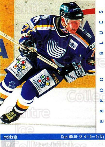 2001-02 Finnish Cardset #11 Mikael Jamsanen<br/>7 In Stock - $2.00 each - <a href=https://centericecollectibles.foxycart.com/cart?name=2001-02%20Finnish%20Cardset%20%2311%20Mikael%20Jamsanen...&quantity_max=7&price=$2.00&code=93674 class=foxycart> Buy it now! </a>