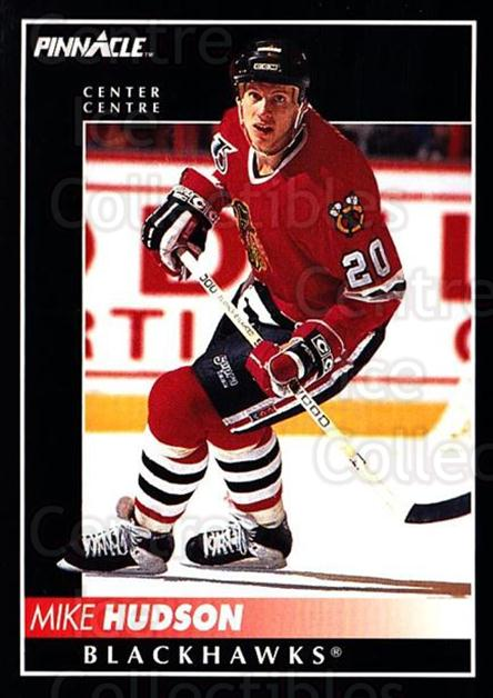 1992-93 Pinnacle Canadian #134 Mike Hudson<br/>5 In Stock - $1.00 each - <a href=https://centericecollectibles.foxycart.com/cart?name=1992-93%20Pinnacle%20Canadian%20%23134%20Mike%20Hudson...&quantity_max=5&price=$1.00&code=9368 class=foxycart> Buy it now! </a>