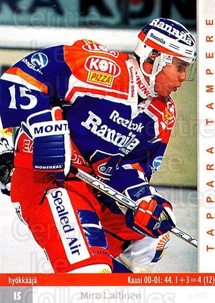 2001-02 Finnish Cardset #125 Miro Laitinen<br/>7 In Stock - $2.00 each - <a href=https://centericecollectibles.foxycart.com/cart?name=2001-02%20Finnish%20Cardset%20%23125%20Miro%20Laitinen...&quantity_max=7&price=$2.00&code=93691 class=foxycart> Buy it now! </a>