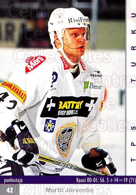 2001-02 Finnish Cardset #140 Martti Jarventie<br/>6 In Stock - $2.00 each - <a href=https://centericecollectibles.foxycart.com/cart?name=2001-02%20Finnish%20Cardset%20%23140%20Martti%20Jarventi...&quantity_max=6&price=$2.00&code=93706 class=foxycart> Buy it now! </a>