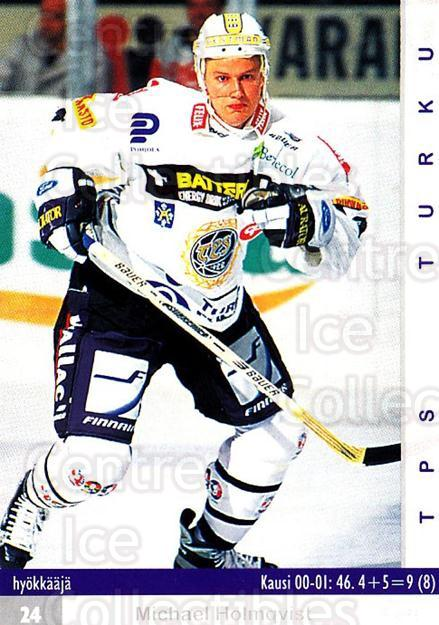 2001-02 Finnish Cardset #144 Michael Holmqvist<br/>8 In Stock - $2.00 each - <a href=https://centericecollectibles.foxycart.com/cart?name=2001-02%20Finnish%20Cardset%20%23144%20Michael%20Holmqvi...&quantity_max=8&price=$2.00&code=93709 class=foxycart> Buy it now! </a>