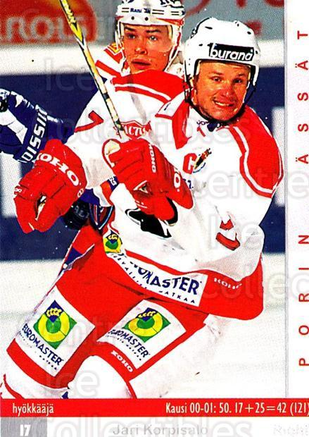 2001-02 Finnish Cardset #151 Jari Korpisalo<br/>9 In Stock - $2.00 each - <a href=https://centericecollectibles.foxycart.com/cart?name=2001-02%20Finnish%20Cardset%20%23151%20Jari%20Korpisalo...&quantity_max=9&price=$2.00&code=93716 class=foxycart> Buy it now! </a>