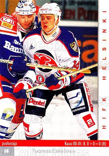 2001-02 Finnish Cardset #16 Tuomas Eskelinen<br/>7 In Stock - $2.00 each - <a href=https://centericecollectibles.foxycart.com/cart?name=2001-02%20Finnish%20Cardset%20%2316%20Tuomas%20Eskeline...&quantity_max=7&price=$2.00&code=93724 class=foxycart> Buy it now! </a>