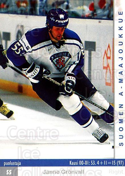 2001-02 Finnish Cardset #167 Janne Gronvall<br/>8 In Stock - $2.00 each - <a href=https://centericecollectibles.foxycart.com/cart?name=2001-02%20Finnish%20Cardset%20%23167%20Janne%20Gronvall...&price=$2.00&code=93732 class=foxycart> Buy it now! </a>