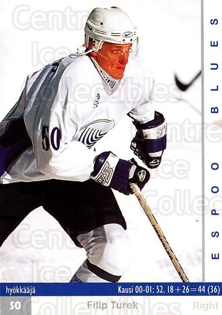 2001-02 Finnish Cardset #193 Filip Turek<br/>7 In Stock - $2.00 each - <a href=https://centericecollectibles.foxycart.com/cart?name=2001-02%20Finnish%20Cardset%20%23193%20Filip%20Turek...&quantity_max=7&price=$2.00&code=93760 class=foxycart> Buy it now! </a>
