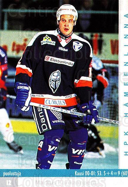 2001-02 Finnish Cardset #218 Markus Kankaanpera<br/>8 In Stock - $2.00 each - <a href=https://centericecollectibles.foxycart.com/cart?name=2001-02%20Finnish%20Cardset%20%23218%20Markus%20Kankaanp...&quantity_max=8&price=$2.00&code=93785 class=foxycart> Buy it now! </a>