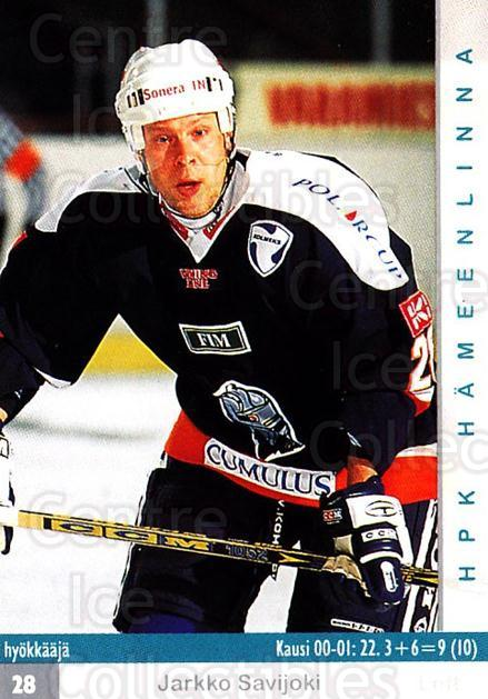 2001-02 Finnish Cardset #226 Jarkko Savijoki<br/>6 In Stock - $2.00 each - <a href=https://centericecollectibles.foxycart.com/cart?name=2001-02%20Finnish%20Cardset%20%23226%20Jarkko%20Savijoki...&quantity_max=6&price=$2.00&code=93794 class=foxycart> Buy it now! </a>
