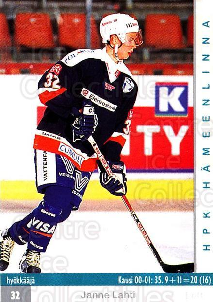 2001-02 Finnish Cardset #228 Janne Lahti<br/>7 In Stock - $2.00 each - <a href=https://centericecollectibles.foxycart.com/cart?name=2001-02%20Finnish%20Cardset%20%23228%20Janne%20Lahti...&quantity_max=7&price=$2.00&code=93796 class=foxycart> Buy it now! </a>
