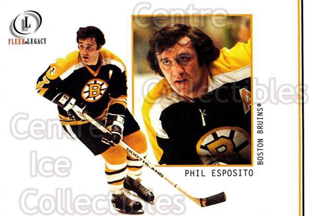 2001-02 Fleer Legacy #11 Phil Esposito<br/>7 In Stock - $2.00 each - <a href=https://centericecollectibles.foxycart.com/cart?name=2001-02%20Fleer%20Legacy%20%2311%20Phil%20Esposito...&quantity_max=7&price=$2.00&code=93816 class=foxycart> Buy it now! </a>