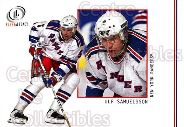 2001-02 Fleer Legacy #24 Ulf Samuelsson<br/>5 In Stock - $1.00 each - <a href=https://centericecollectibles.foxycart.com/cart?name=2001-02%20Fleer%20Legacy%20%2324%20Ulf%20Samuelsson...&quantity_max=5&price=$1.00&code=93828 class=foxycart> Buy it now! </a>