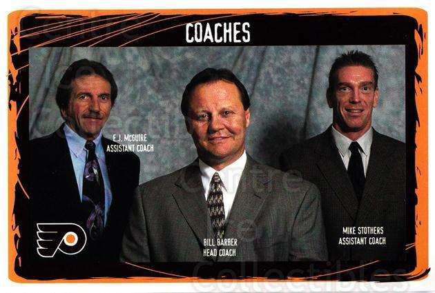 2001-02 Philadelphia Flyers Postcards #26 Bill Barber, Mike Stothers, EJ McGuire<br/>1 In Stock - $3.00 each - <a href=https://centericecollectibles.foxycart.com/cart?name=2001-02%20Philadelphia%20Flyers%20Postcards%20%2326%20Bill%20Barber,%20Mi...&quantity_max=1&price=$3.00&code=93881 class=foxycart> Buy it now! </a>